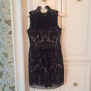 Anthropologie Baraschi Black Lace Dress